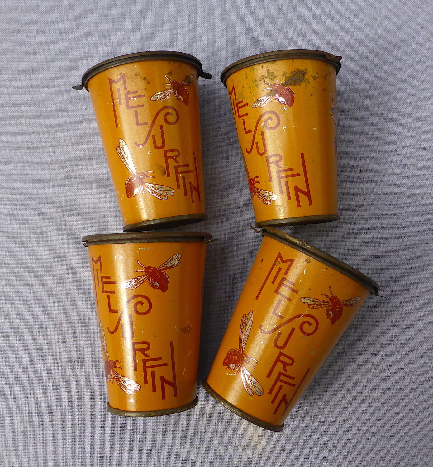 Early 20th Century French Honey Tins