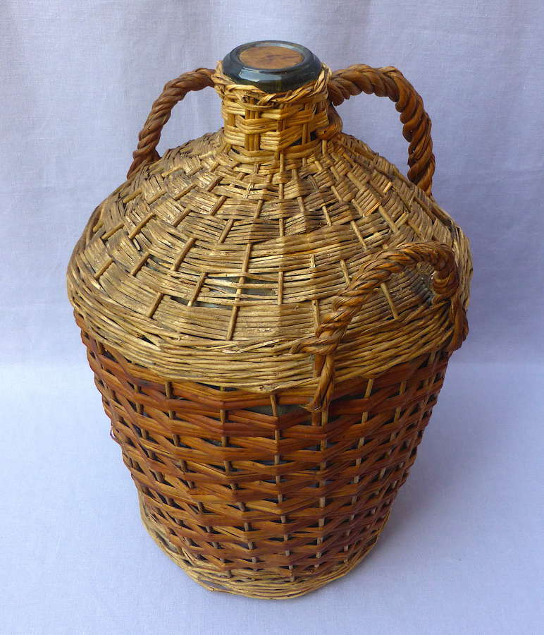 Large Wicker Covered Demijohn