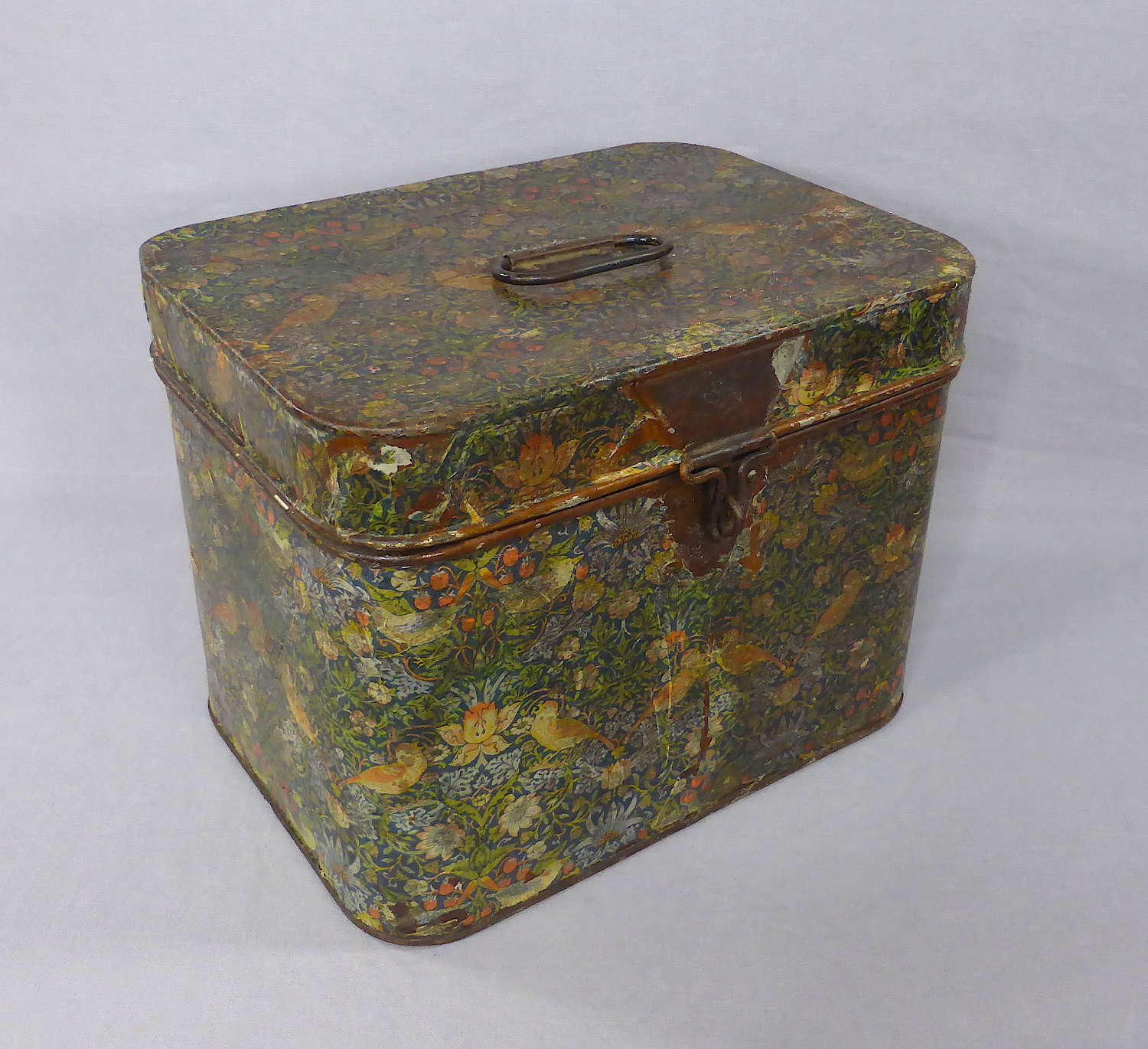 Small Paper-Covered Tin Trunk