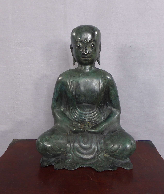 Patinated Bronze Buddhistic Luohan Figure