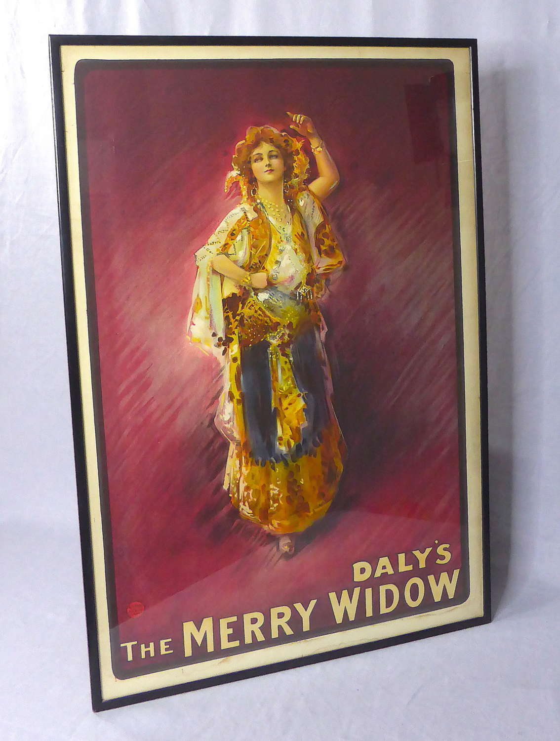 Daly's Merry Widow Theatre Poster