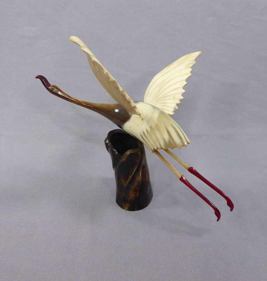 Carved Horn Bird