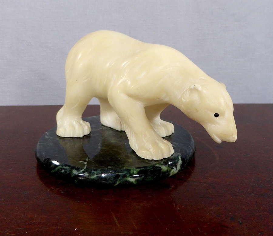 Inuit Carved Polar Bear