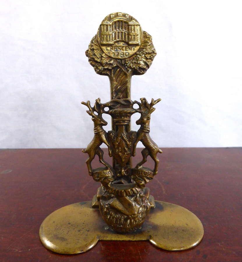 Unusual Bronze Letter Rack c.1880