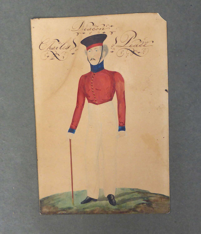 Primitive British Military Painting 1840s