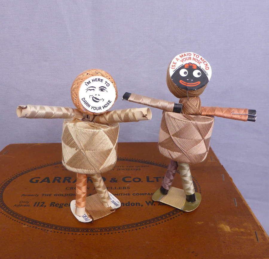 Pair of Mending Maid Dolls