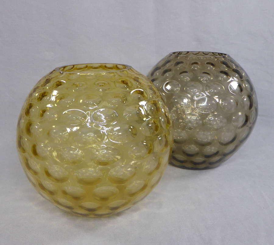 Sklo Optic Glass Ball Vase