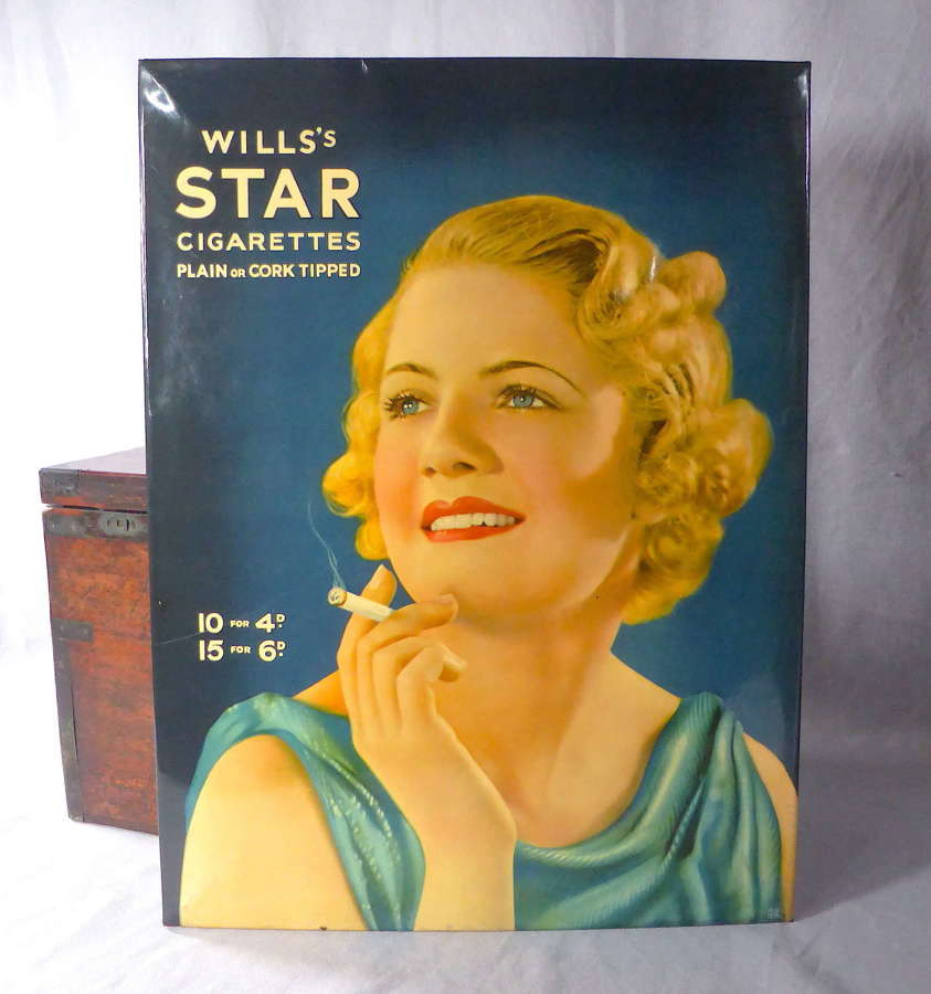 Wills's Star Cigarettes Advertising Sign