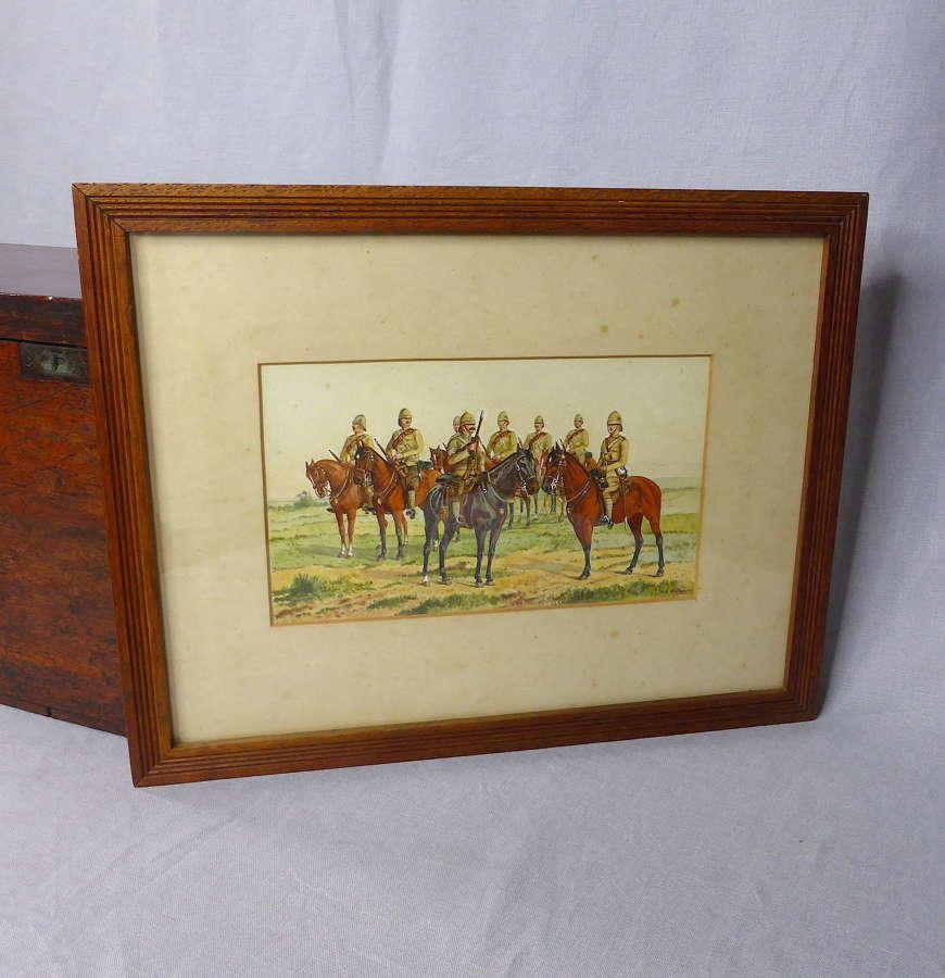 Original Boer War painting by F O'Beirne