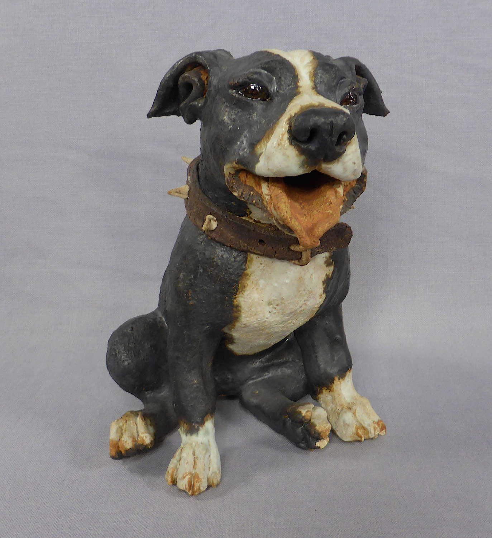 Staffordshire Bull Terrier sculpture