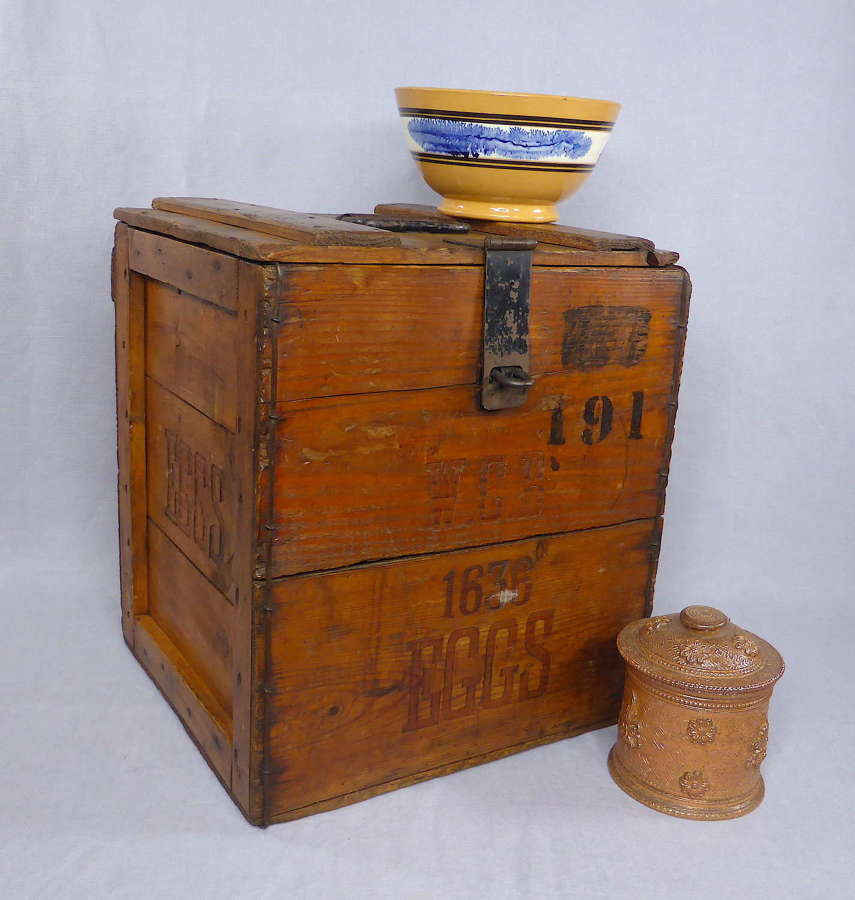 Large wooden egg crate