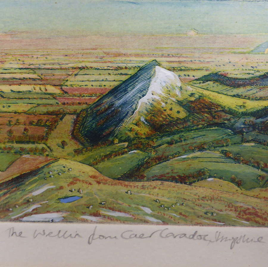 Shropshire Etching by Piers Browne