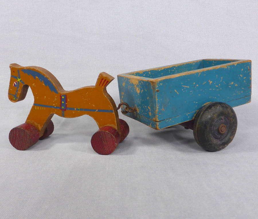 Toy horse & cart